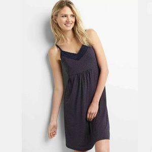 Gap Maternity Polka Dot Nursing Seamless Nightgown